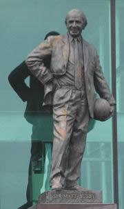 A famosa estátua de Sir Matt Busby