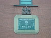 Placa em Old Trafford, em memória dos jogadores falecidos no desastre aéreo de Munique